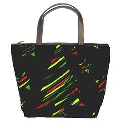 Abstract Christmas tree Bucket Bags