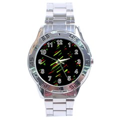 Abstract Christmas tree Stainless Steel Analogue Watch