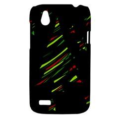 Abstract Christmas tree HTC Desire V (T328W) Hardshell Case