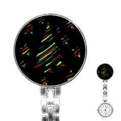 Abstract Christmas tree Stainless Steel Nurses Watch