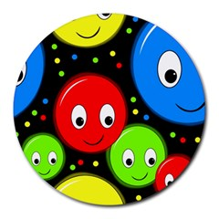 Smiley faces pattern Round Mousepads
