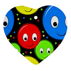 Smiley faces pattern Ornament (Heart)