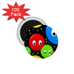 Smiley faces pattern 1.75  Magnets (100 pack)