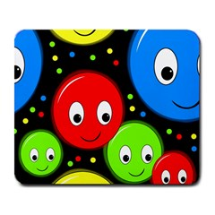 Smiley faces pattern Large Mousepads