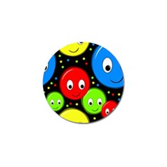 Smiley faces pattern Golf Ball Marker (4 pack)
