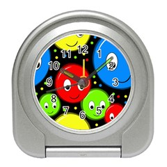Smiley faces pattern Travel Alarm Clocks