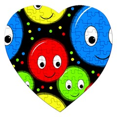 Smiley faces pattern Jigsaw Puzzle (Heart)