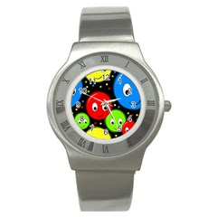 Smiley faces pattern Stainless Steel Watch