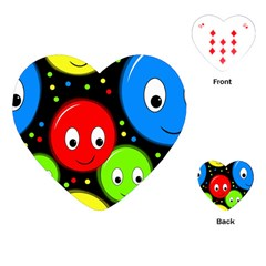 Smiley faces pattern Playing Cards (Heart)