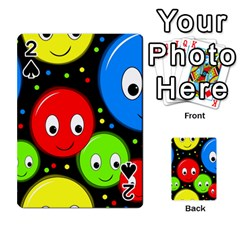 Smiley faces pattern Playing Cards 54 Designs