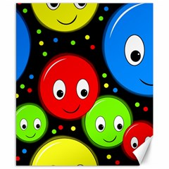 Smiley faces pattern Canvas 8  x 10