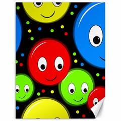 Smiley faces pattern Canvas 18  x 24
