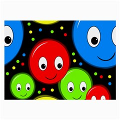 Smiley faces pattern Large Glasses Cloth