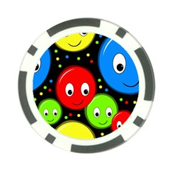 Smiley faces pattern Poker Chip Card Guards