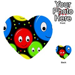 Smiley faces pattern Multi-purpose Cards (Heart)