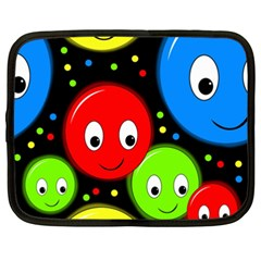 Smiley faces pattern Netbook Case (XXL)