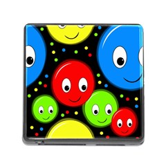 Smiley faces pattern Memory Card Reader (Square)