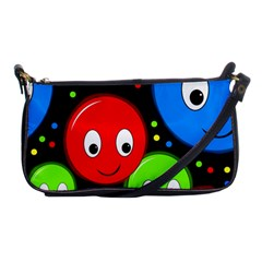 Smiley faces pattern Shoulder Clutch Bags