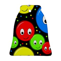 Smiley faces pattern Bell Ornament (2 Sides)