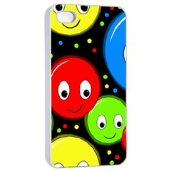 Smiley faces pattern Apple iPhone 4/4s Seamless Case (White)