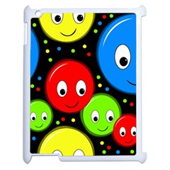 Smiley faces pattern Apple iPad 2 Case (White)