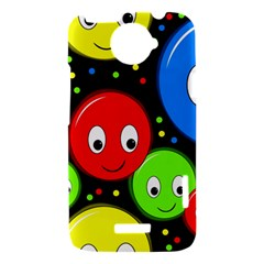 Smiley faces pattern HTC One X Hardshell Case