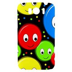Smiley faces pattern HTC Sensation XL Hardshell Case