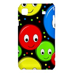 Smiley faces pattern Samsung Galaxy S i9008 Hardshell Case