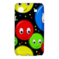 Smiley faces pattern Samsung Galaxy SL i9003 Hardshell Case