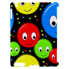 Smiley faces pattern Apple iPad 2 Hardshell Case (Compatible with Smart Cover)