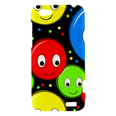 Smiley faces pattern HTC One V Hardshell Case