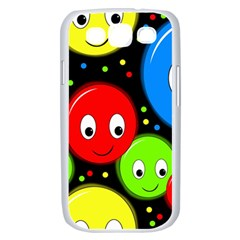Smiley faces pattern Samsung Galaxy S III Case (White)