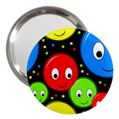 Smiley faces pattern 3  Handbag Mirrors