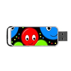 Smiley faces pattern Portable USB Flash (Two Sides)