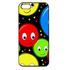 Smiley faces pattern Apple iPhone 5 Seamless Case (Black)