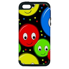 Smiley faces pattern Apple iPhone 5 Hardshell Case (PC+Silicone)