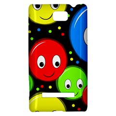 Smiley faces pattern HTC 8S Hardshell Case