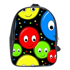 Smiley faces pattern School Bags (XL)