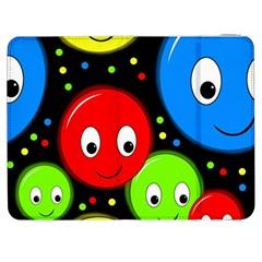 Smiley faces pattern Samsung Galaxy Tab 7  P1000 Flip Case