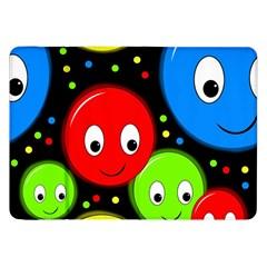 Smiley faces pattern Samsung Galaxy Tab 8.9  P7300 Flip Case