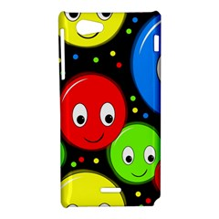 Smiley faces pattern Sony Xperia J