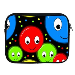 Smiley Faces Pattern Apple Ipad 2/3/4 Zipper Cases