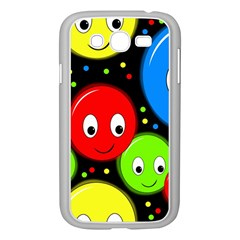 Smiley faces pattern Samsung Galaxy Grand DUOS I9082 Case (White)