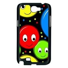 Smiley faces pattern Samsung Galaxy Note 2 Case (Black)