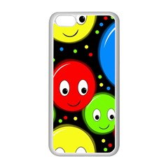 Smiley faces pattern Apple iPhone 5C Seamless Case (White)