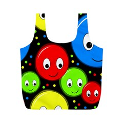 Smiley Faces Pattern Full Print Recycle Bags (m)