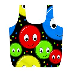 Smiley faces pattern Full Print Recycle Bags (L)