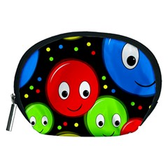 Smiley faces pattern Accessory Pouches (Medium)