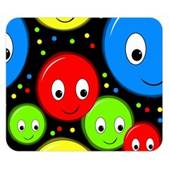 Smiley faces pattern Double Sided Flano Blanket (Small)