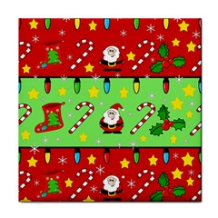 Christmas pattern - green and red Tile Coasters